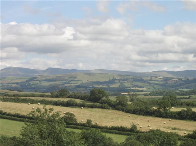 Views of the Brecons were magnificent.