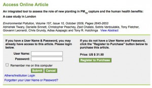 Paywall met by those trying to access the research article via the publisher's website.