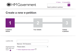 New Government e-petitions site