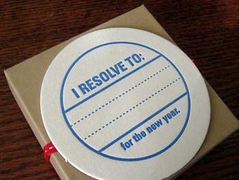 New Year Resolution coaster by Bazaar Bizarre SF