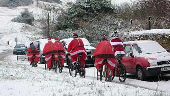 Santas off for a pint at The Bear by Smoobs