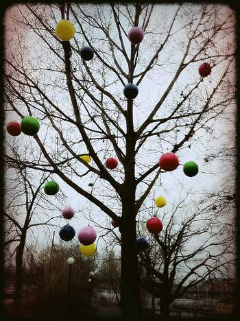 Tree Baubles by Paula Bray