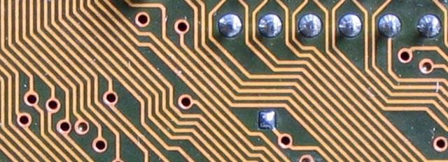 Labyrinthine circuit board lines by Karl-Ludwig G. Poggemann