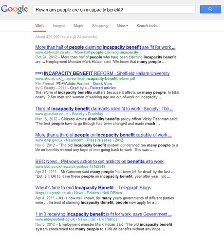 DWP Google search