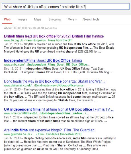 google for BFI