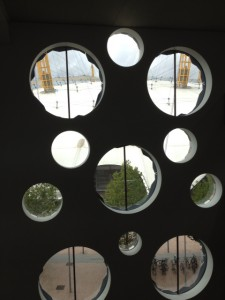 O2 through Ravensbourne windows