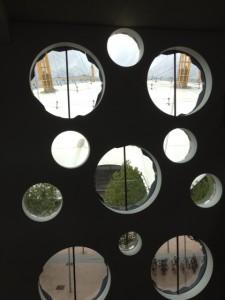 O2 through Ravensbourne windows