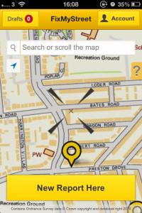 FixMyStreet app