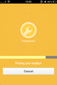 FixMyStreet app finding your location