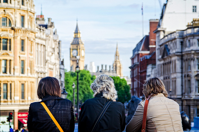 Tourists in London by Garry Knight