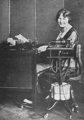 Dictaphone Operator, via Wikimedia Commons