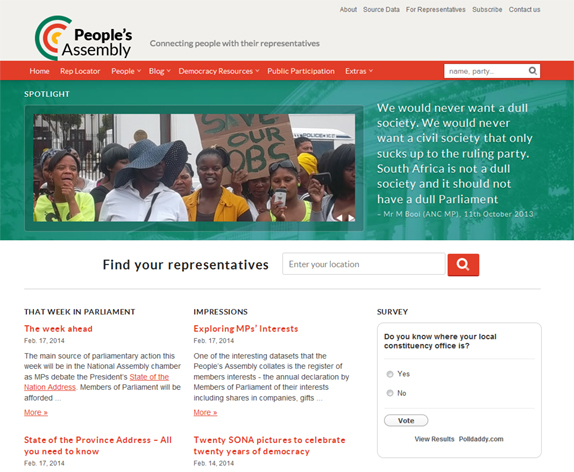 People's Assembly website