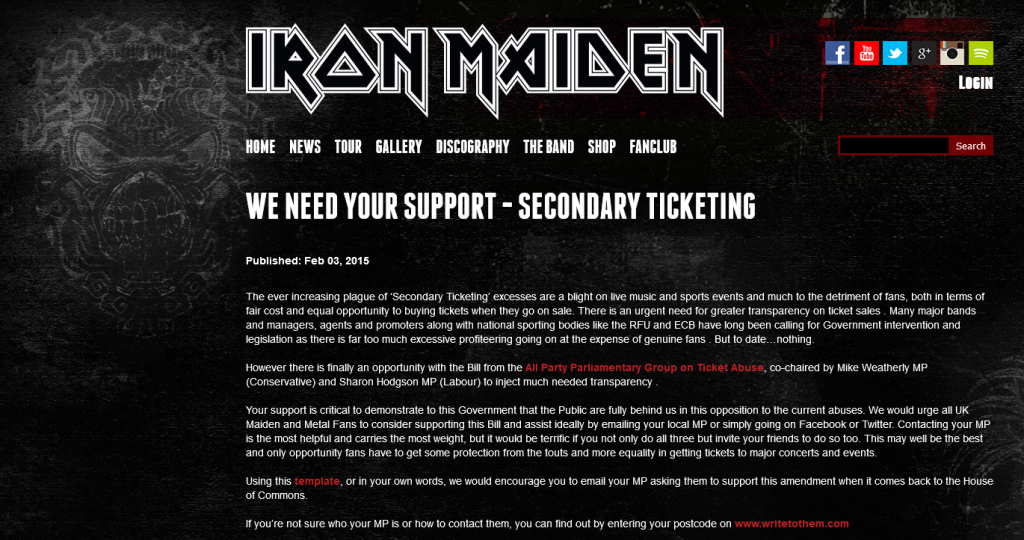 Iron Maiden invite their fans to use WriteToThem