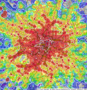 London time travel map