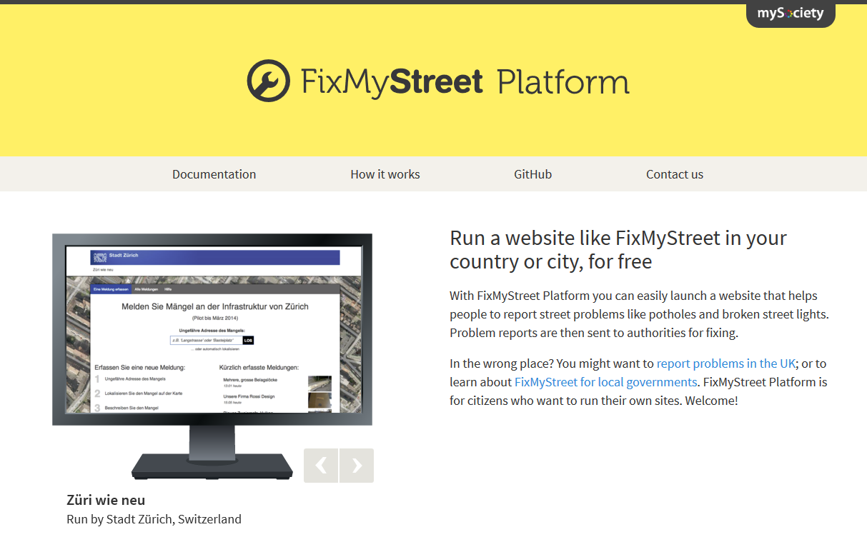 FixMyStreet platform