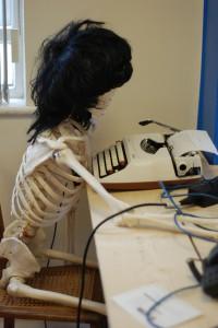 skeleton at Founders Hub