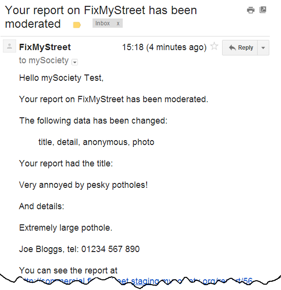 FMS Moderation Email