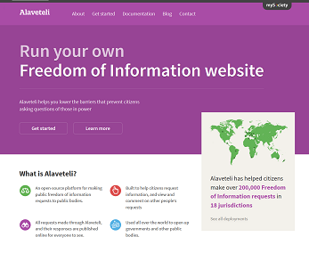 Alaveteli homepage