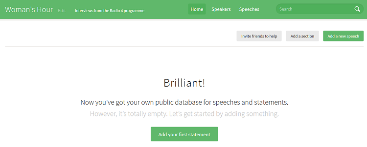 Start adding speeches on SayIt