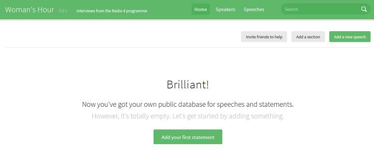 Start adding speeches on SayIt