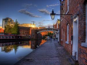 A Canal, an bridge in Birmingham