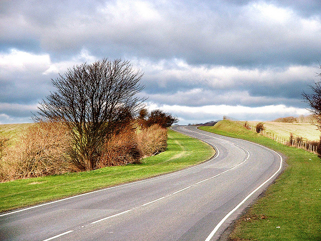 Winding Road (Ditchling Road, Hollingbury) by Dominic Alves