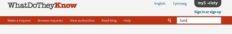 WatDoTheyKnow topic search box