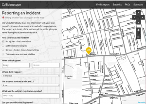 Demonstration of a user reporting an incident