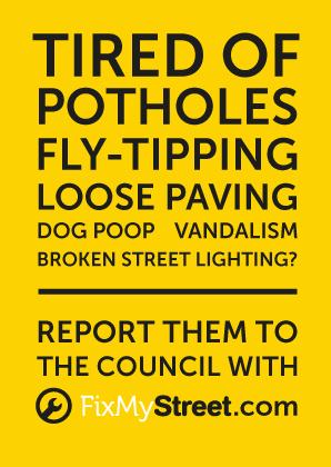 FixMyStreet flyer