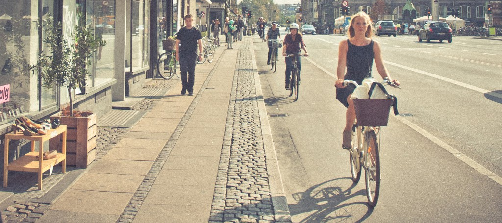 Cyclists in Copenhagen by Justin Swan