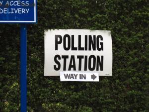 Polling Station (way in) by Paul Albertella