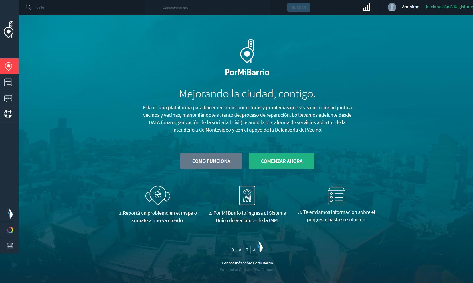 Por Mi Barrio, Uruguayan FixMyStreet