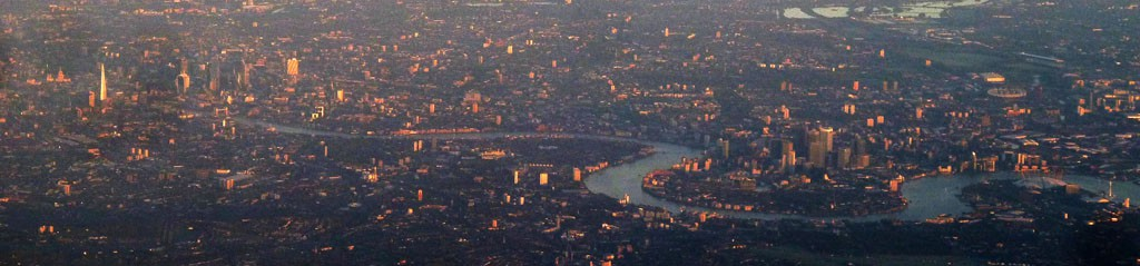 London from the air by Anders Sandberg