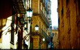 Image by Moyan Brenn - street in the Barrio Gotic, sunset