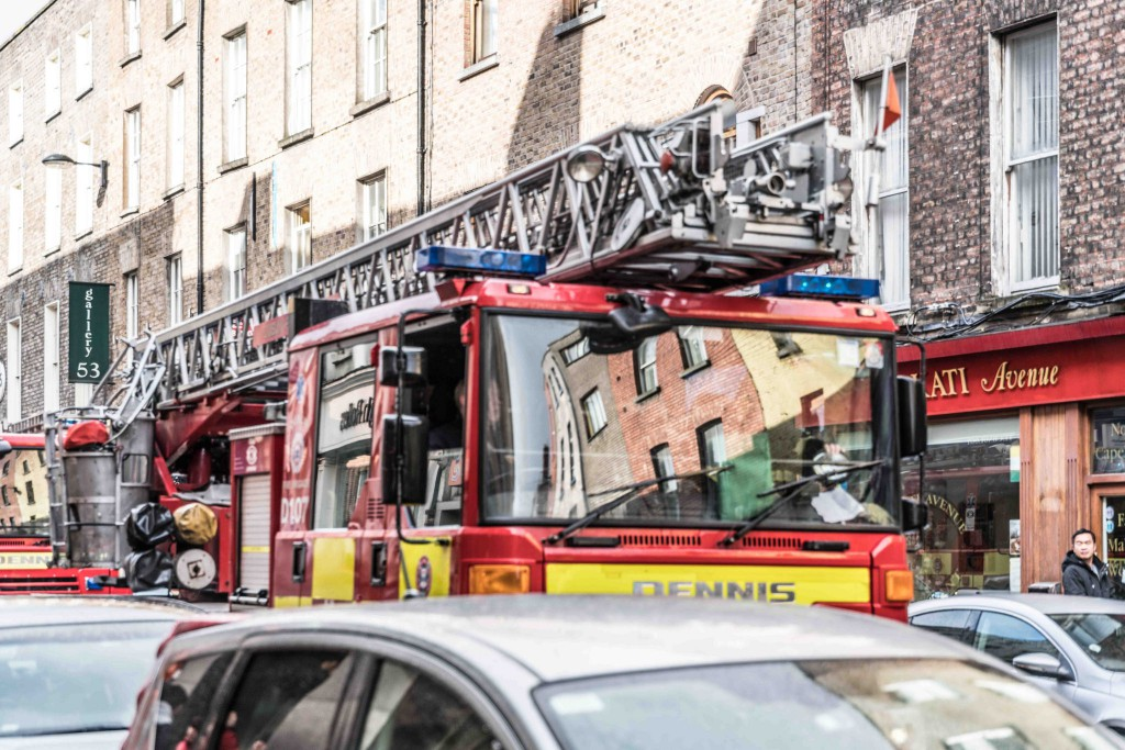 Fire engine stuck in traffic - image by William Murphy