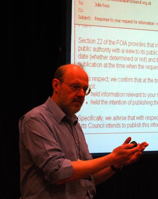 Image by Ben Welsh Martin Rosenbaum discusses British open data laws on Thursday, Feb. 24, 2011.