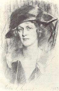 Drawing of Nancy Astor