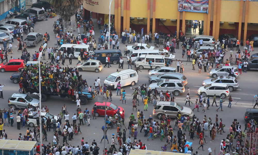 Kinshasha streetscne, seen from above. Image by Monusco photos