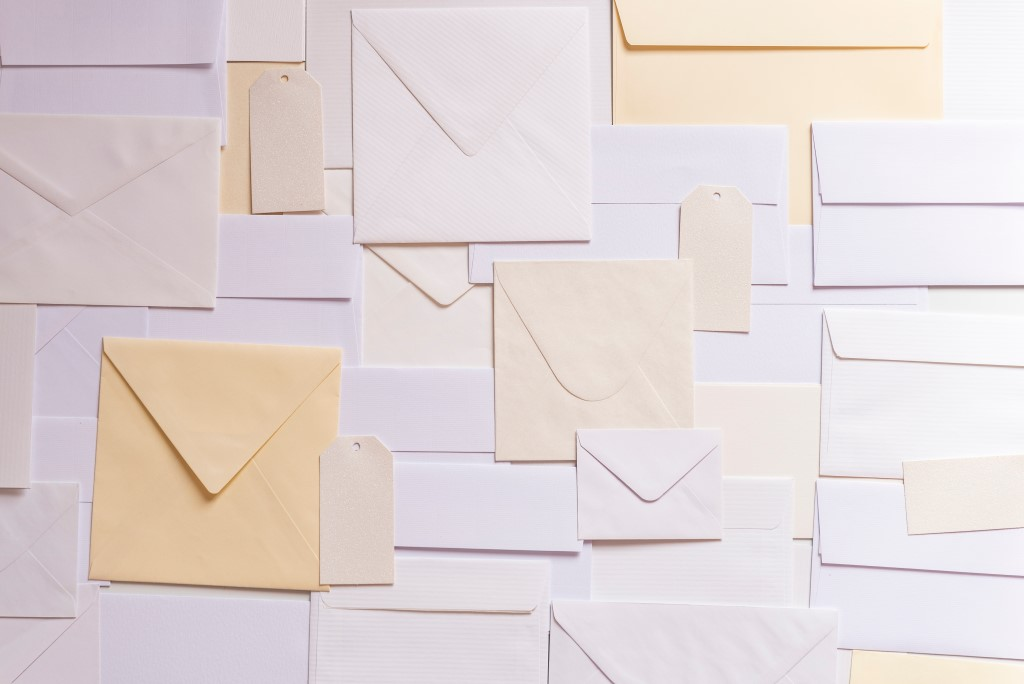 Picture of overlapping envelopes