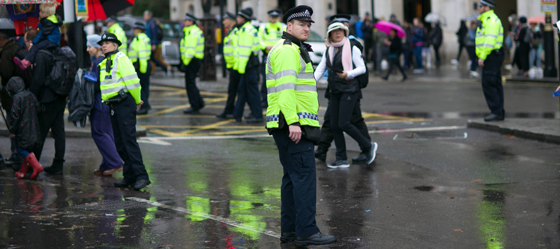 Image by Phil Hearing shows a policeman in London