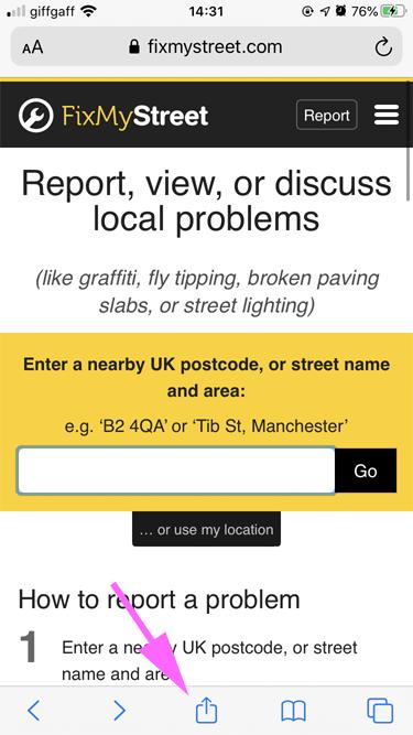 Share button on iOs