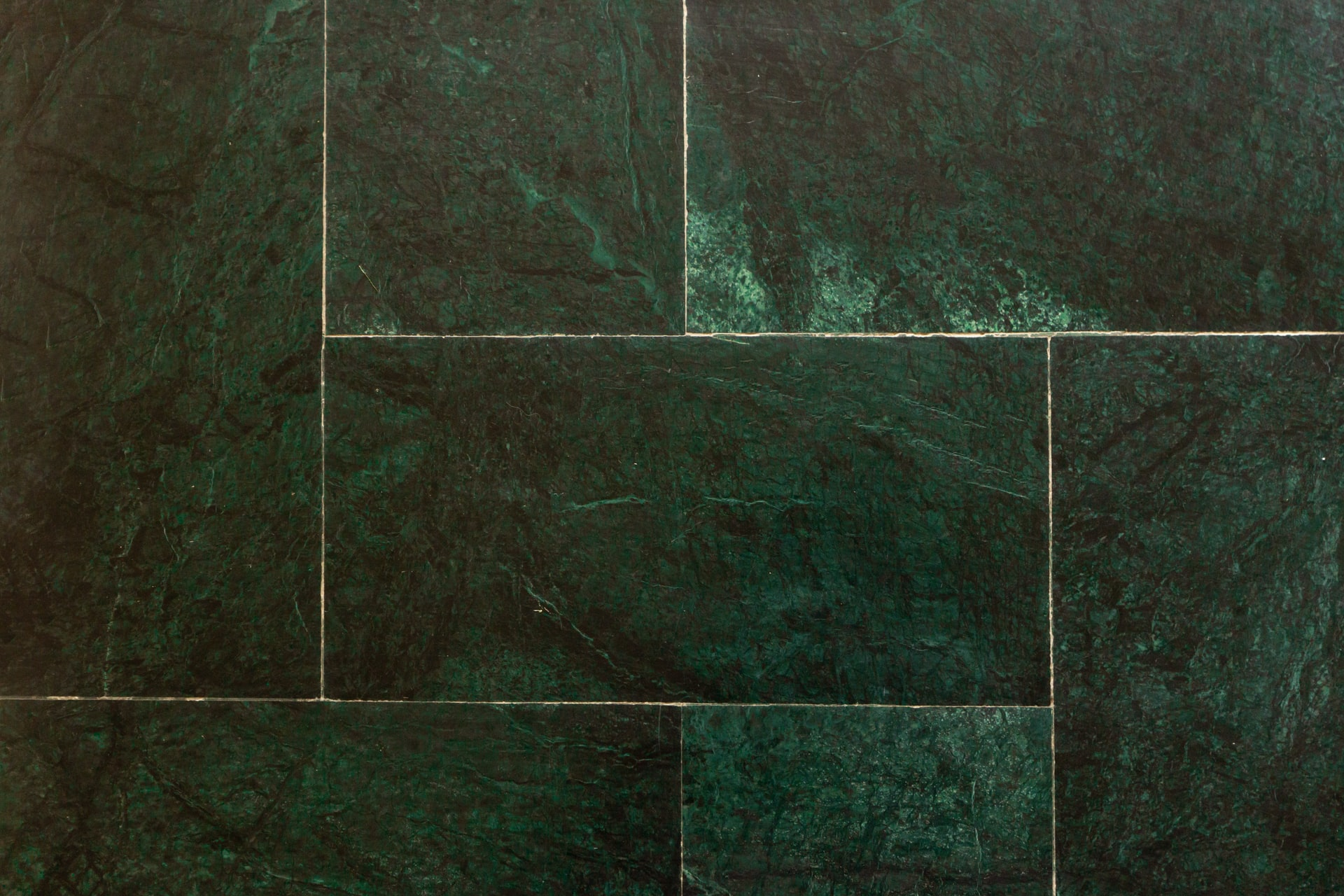 Green marble tiles interlocking