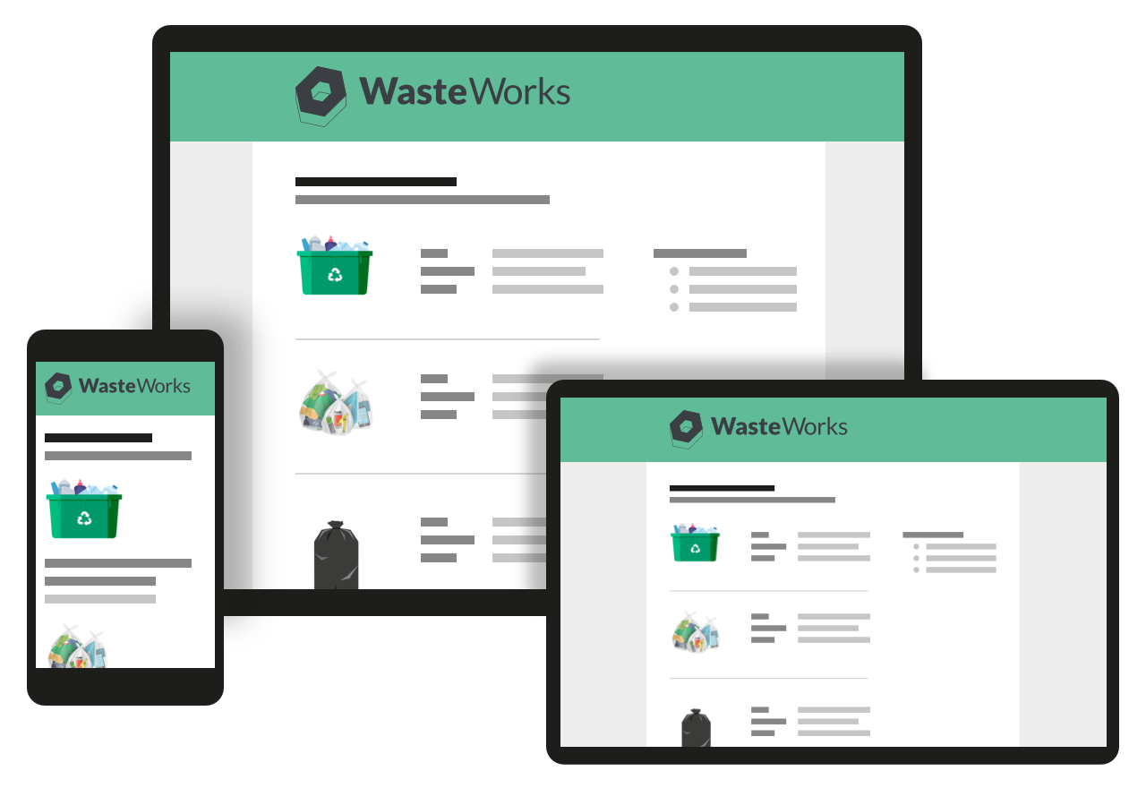 WasteWorks product on different devices