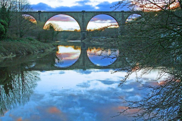 Image by Andy Brass. The Victoria Viaduct, part of the Leamside Line discontinued railway